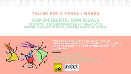 Coeducació - Taller per a pares i mares: Som diferents, som iguals @ Sala Multiusos Pavelló | Picanya | Comunidad Valenciana | Espanya